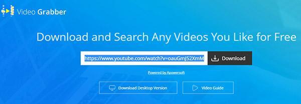 Paste that Videos URL
