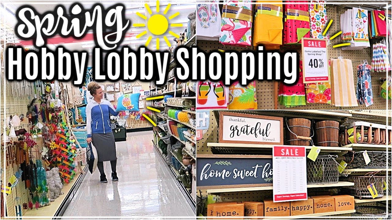 Hobby Lobby Shopping