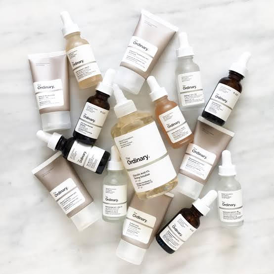 The Ordinary lavishing lotions