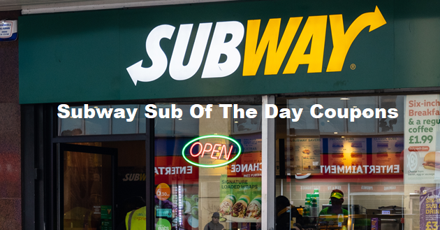 Subway sub of the day coupons