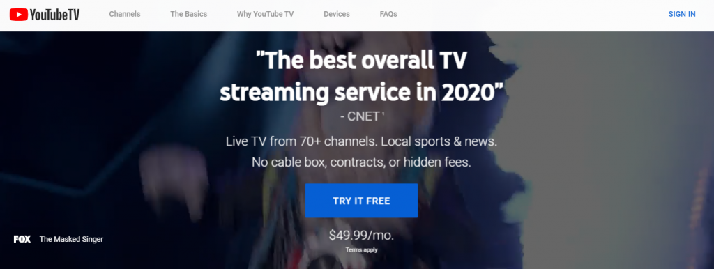 Download YouTube TV Application