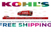 How to get free shipping at kohl's