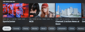 YouTube TV Home