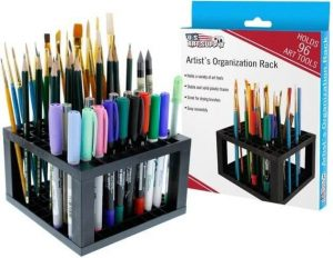 Art Supply 96 Hole Plastic Pencil & Brush Holder