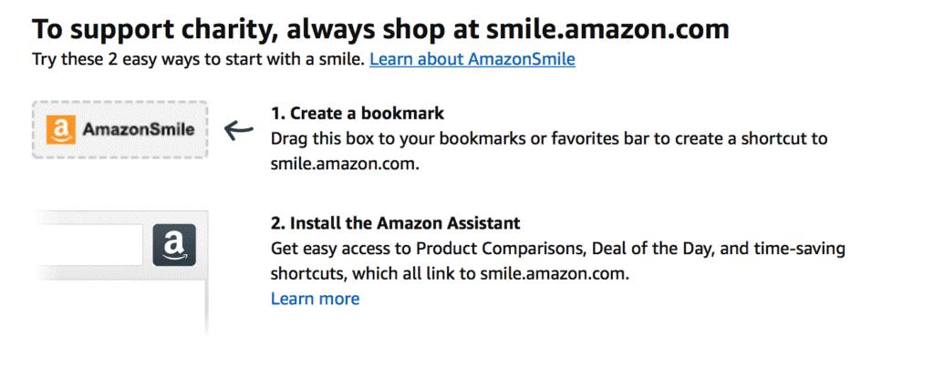 Bookmark Smile.amazon.com