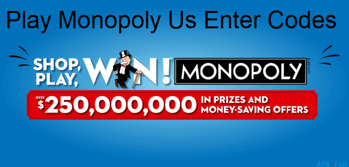 Playmonopoly Us Enter Codes
