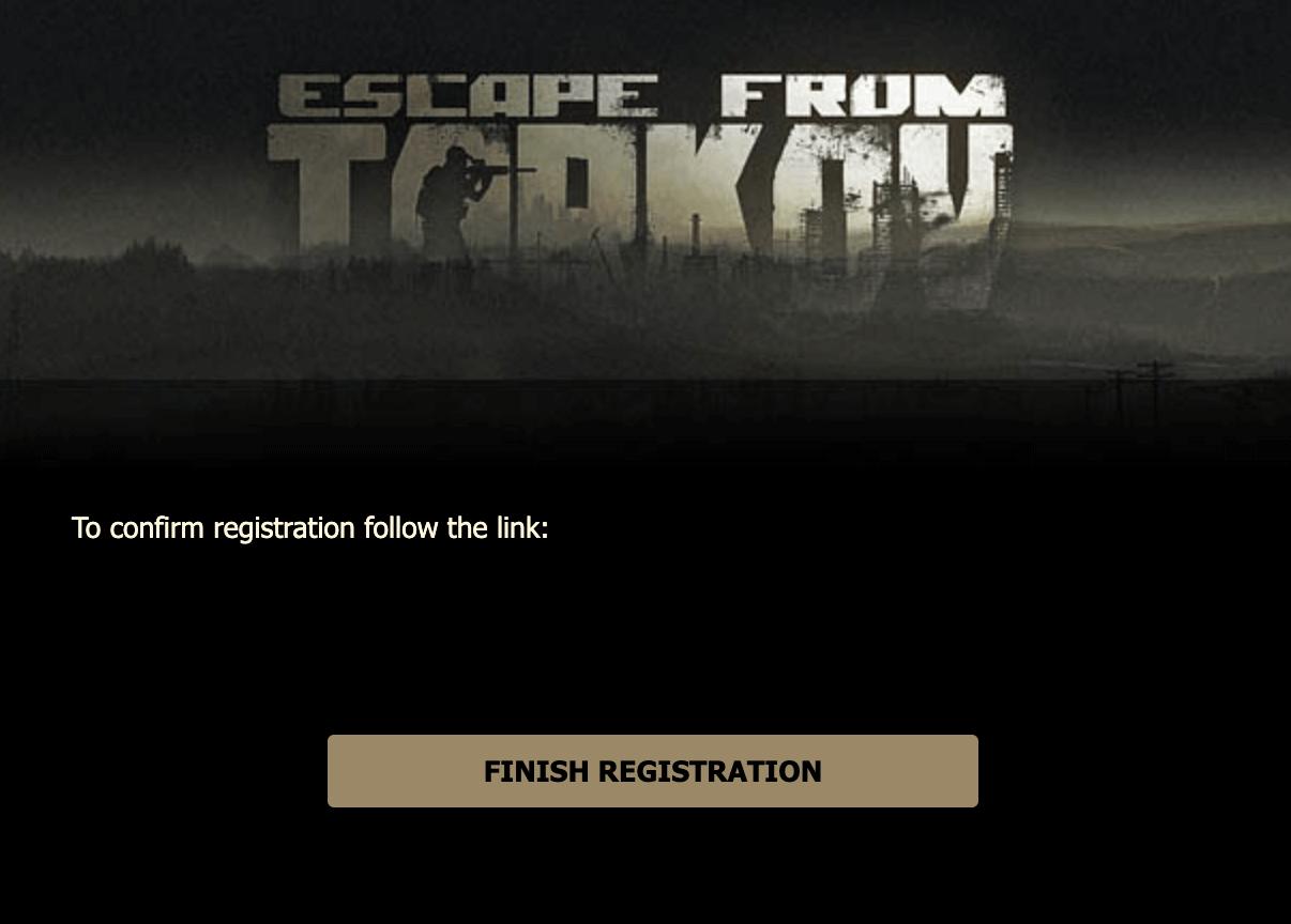 Escape from tarkov verification link