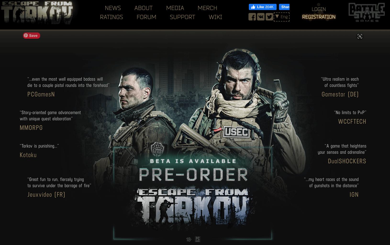 Escape from tarkov website