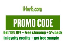 iHerb promo code