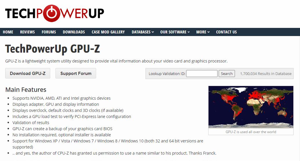 TECHPOWERUP GPUZ