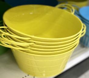 Colourful Metal Buckets